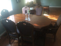 Beautiful solid hardwood Dining set and china cabinet