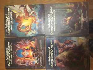 Dungeons and Dragon books and adventures