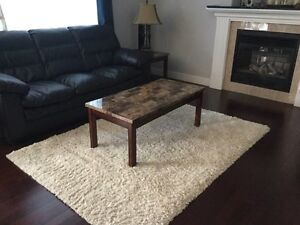 Faux marble Coffee table and 2 matching end tables!