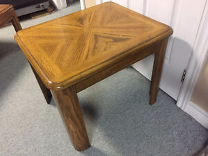 Selling solid wood end table