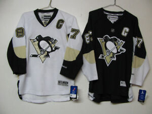 OFFICIAL PITTSBURGH PENGUINS CROSBY HOCKEY JERSEY NWT HOME/AWAY