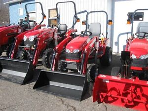 2016 Massey Ferguson 23hp 4WD Tractor with Loader & Blower