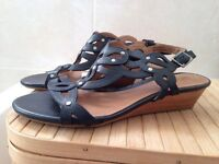 Brand New Clarks Black Leather Sandals