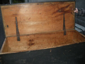 Old Carpenter's Tool Chest- Single Board Top- Original Paint
