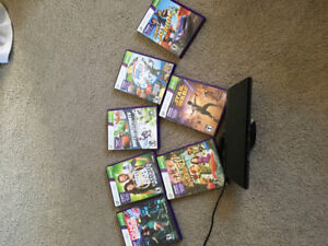 XBOX 360 Kinect system and variety of games