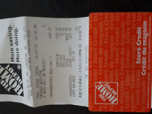 Home depot card  $261.41 on it selling for $200