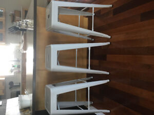 """3 STRUCTUBE  IRON BAR STOOLS FOR SALE. 30"""" excellent condition"""