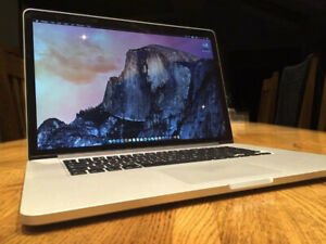 Macbook Pro 15 Retina 2.2 i7 Quad Core 16GB 500GB Flash Storage