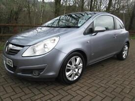 08/08 VAUXHALL CORSA 1.7 CDTI DESIGN 3DR HATCH IN MET GREY WITH SERVICE HISTORY