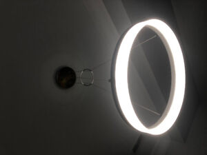 Modern LED halo light fixture