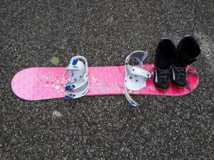 Kit de planche à neige pour jeune fille