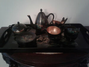 Wooden Lacquer Chinese Tea Set