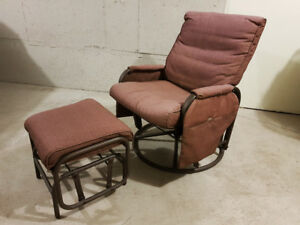 PATIO SWIVEL/GLIDER/ROCKER/RECLINER & MATCHING GLIDER FOOT STOOL