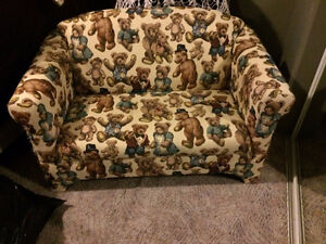 Children's teddy bear couch and matching chair