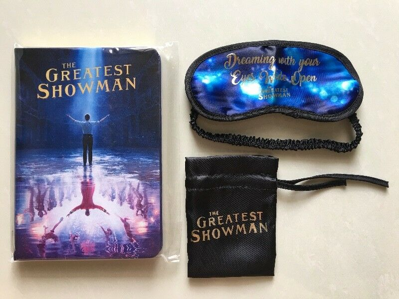 The Greatest Showman notebook and eye shade