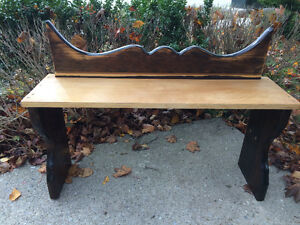 Cute,wooden bench