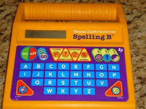 Texas Instruments Spelling Bee Electronic Word Game 1986