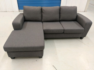 Struc L Shape Sofa With Interchable Chaise Free Delivery