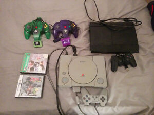 PS1, PS3, N64 Controllers, Games