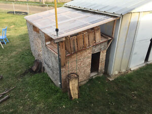 Insulated dog house wood shed