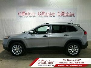 2015 Jeep Cherokee Limited 4X4 V6 w/Panoramic Sunroof  - Low Mil