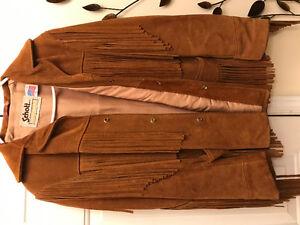 Vintag Suede LEATHER Jacket  size 40