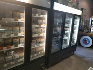 Retail fridge and freezer