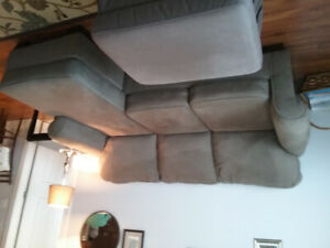 Living room sofa with extension