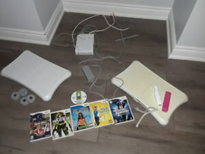 Wii systems and games plus 2 Wii fit Balance boards with Fitdisc
