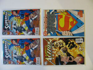 Group of 37 Superman Comics including Man of Steel 1!