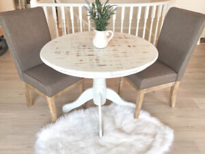 40' shabby chic pedestal table