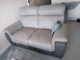 Two 2 seater recliners