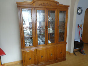 Large Wood China Cabinet