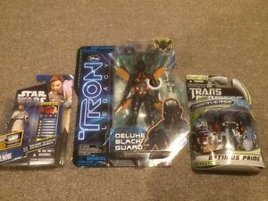 Figurines Star wars Obi-Wan Kenobi, Transformers Optimus et Tron