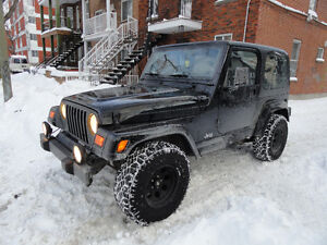 JEEP TJ 2001 Sahara Seulement 93,000 KM Original du dealer Air