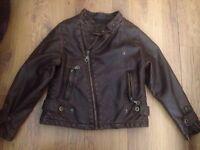 Zara kids leather jacket only worn once ..Like new age 4-5