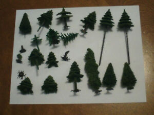 HO scale trees for electric model trains