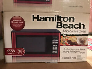 Used Microwave Oven 1.1 cu.ft,1000 Watts from Hamilton Beach