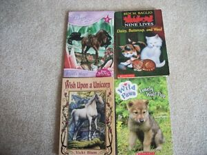Assorted Aniamal books - likely Grade 3 Level reading