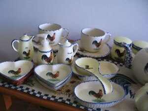 Rooster Collectors !   Dishes with Roosters