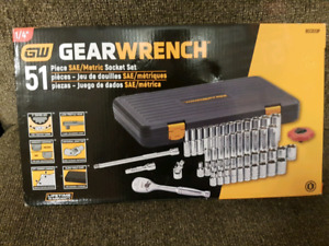 Brand new 51 piece 1/4 GearWrench socket set