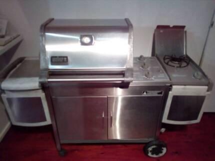 Weber Genesis Platinum Stainless Steel BBQ barbecue Side burner