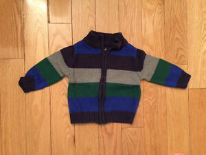 12m Baby zip-up knit sweater. Never worn.