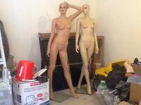 2 full size female mannequins