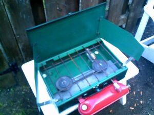 Coleman(tm)Model 431 Double Burner Camp Stove + Gal-Fuel