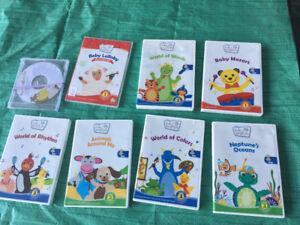 7 baby Einstein DVD 's for 20$