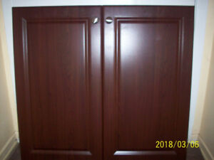 Thermoplastic cabinet doors (2 sets) with hinges and knobs