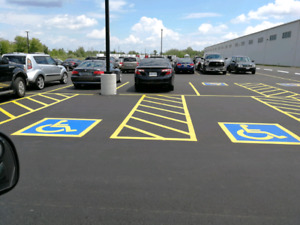 Line Marking - Parking Lot Lines - Warehouse Lines - Sport Lines