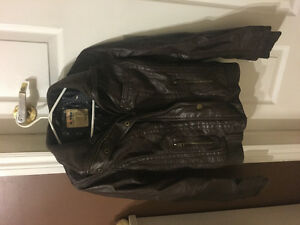 Leather jacket from garage brown