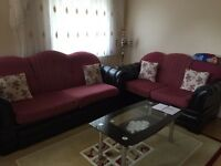 3 piece settee/sofa bef